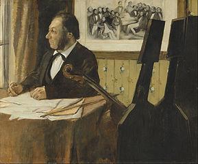 Edgar Degas - The Cellist Pilet