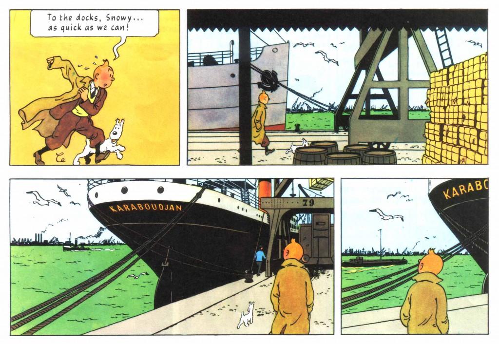Tintin ship docks