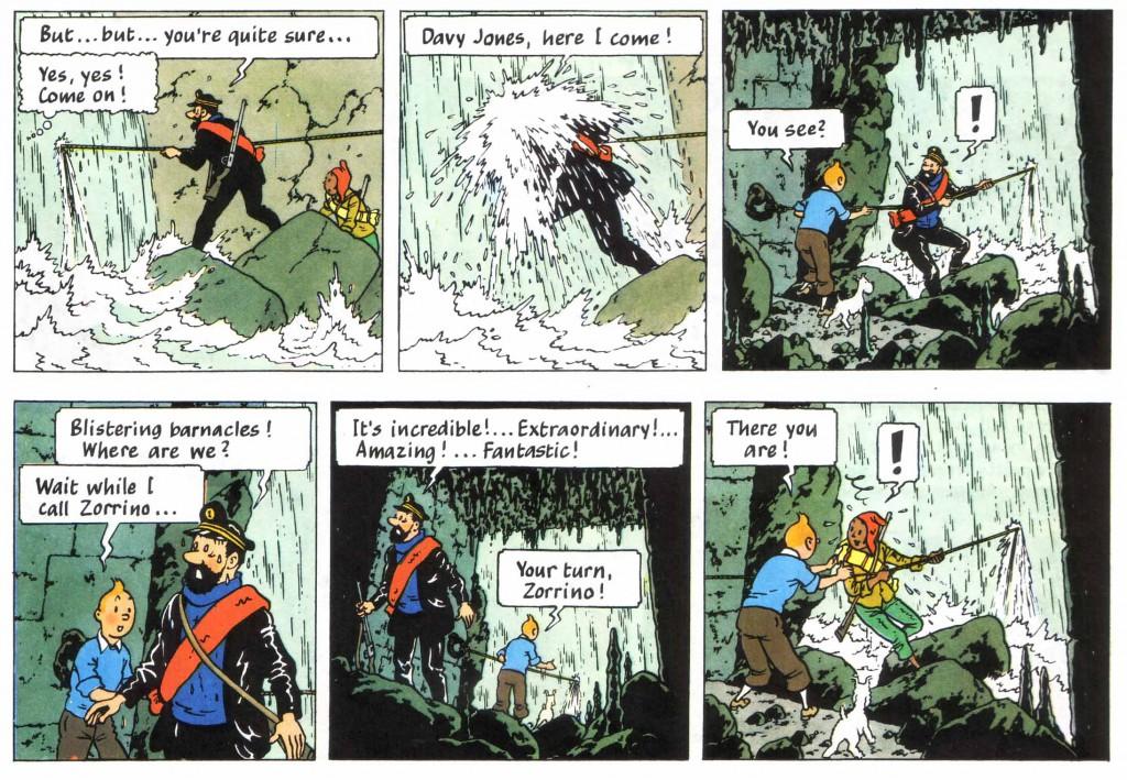 Tintin waterfall
