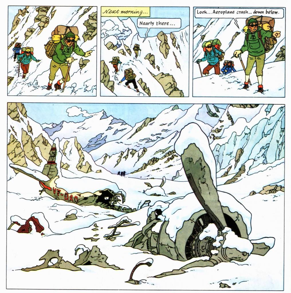 Tintin plane wreck