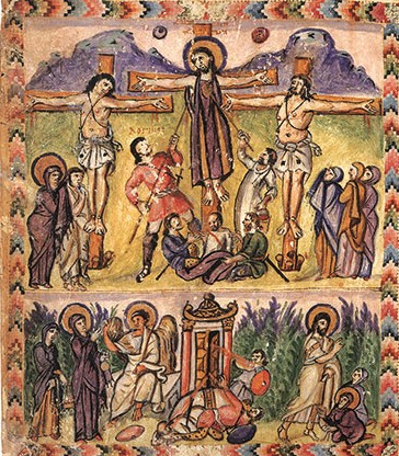 Rabbula gospels cross and rez