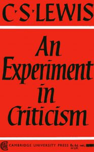 experiment in criticism cover