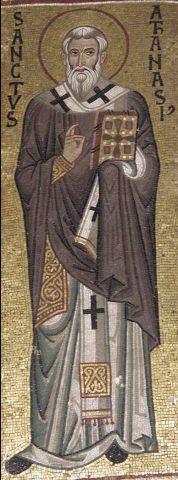 Athanasius mosaic from palatine chapel palermo