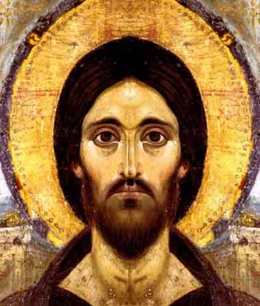Encaustic Christ double left