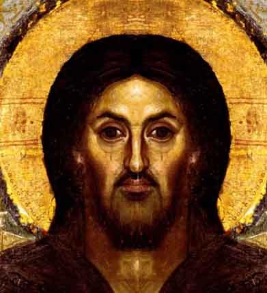 Encaustic Christ double right
