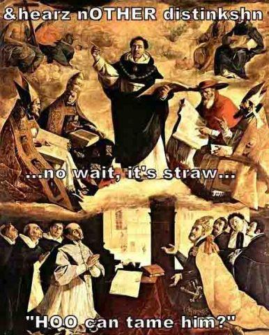 LOL Aquinas in Heaven