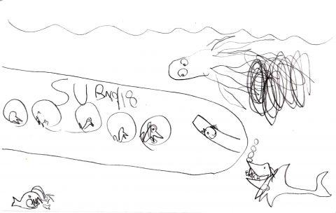 bird tues submarine