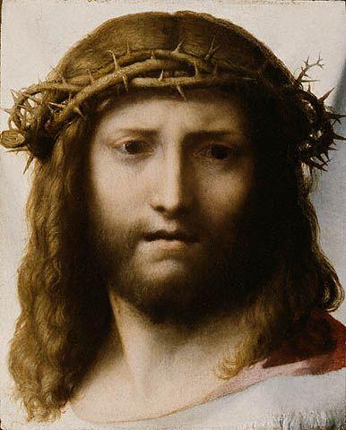 correggio head of christ