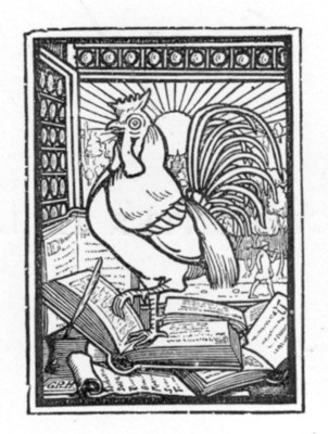 rooster bookplate
