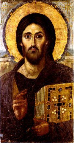 sixth cent encaustic christ