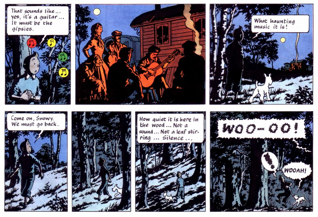 Tintin snowy woods