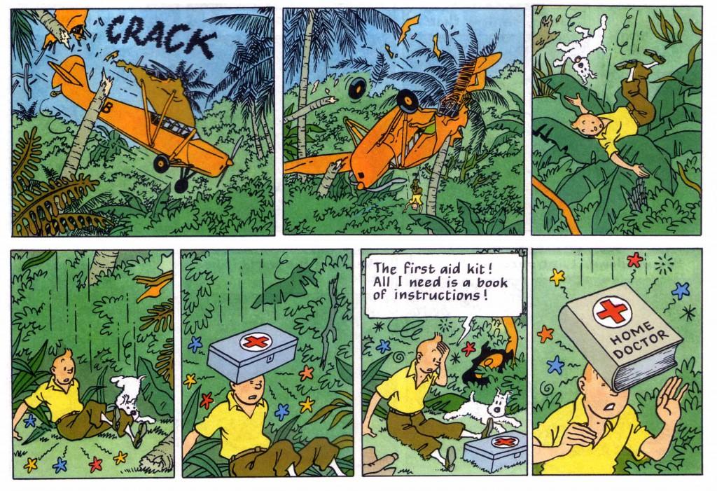 Tintin plane crash