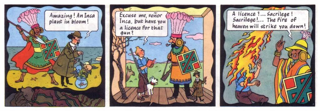 Tintin dream sequences
