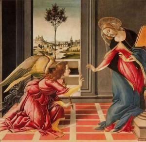 Annunciation botticelli