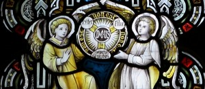 Trinity Shield Stained Glass