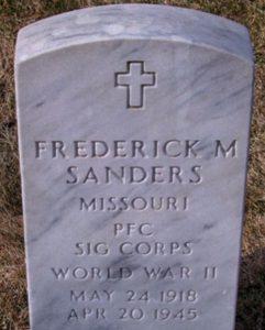 frederick manning sanders grave