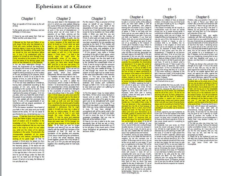 ephesians glance shot