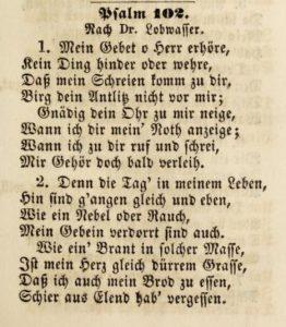psalm 102 luther lobwasser hymn