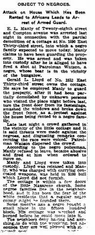 1908 la times negro colony piece