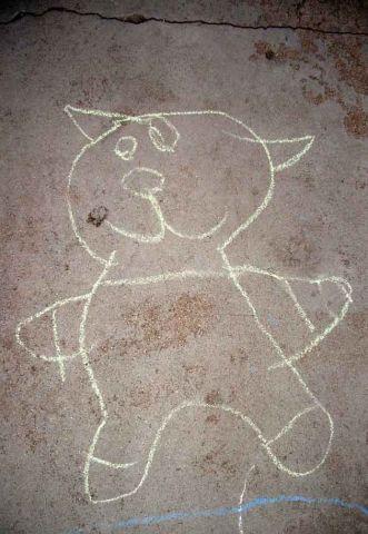 Cat on the sidewalk copy