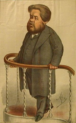Charles Spurgeon cartoon 1870 vanity fair