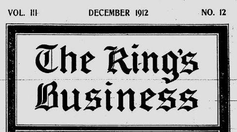 Kings Biz Dec 1912