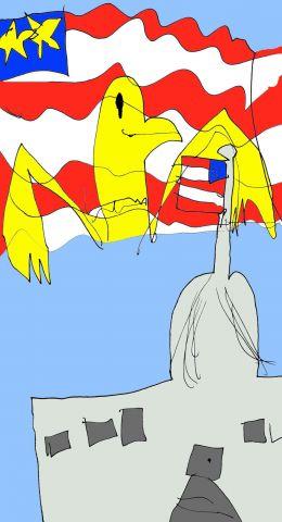 US Capitol Flag Montage color