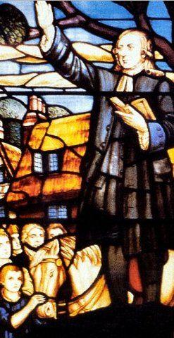 Wesley Preaching window