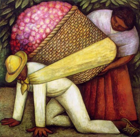 diego rivera flower carrier