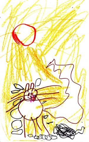 golden kitty hot day
